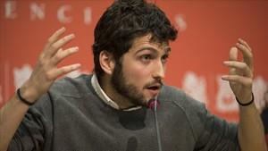 Antonio Estañ, secretario general de Podem, anuncia el voto favorable a los presupuestos de 2018