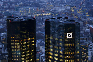 FILE PHOTO - The headquarters of Germanys Deutsche Bank is photographed early evening in Frankfurt
