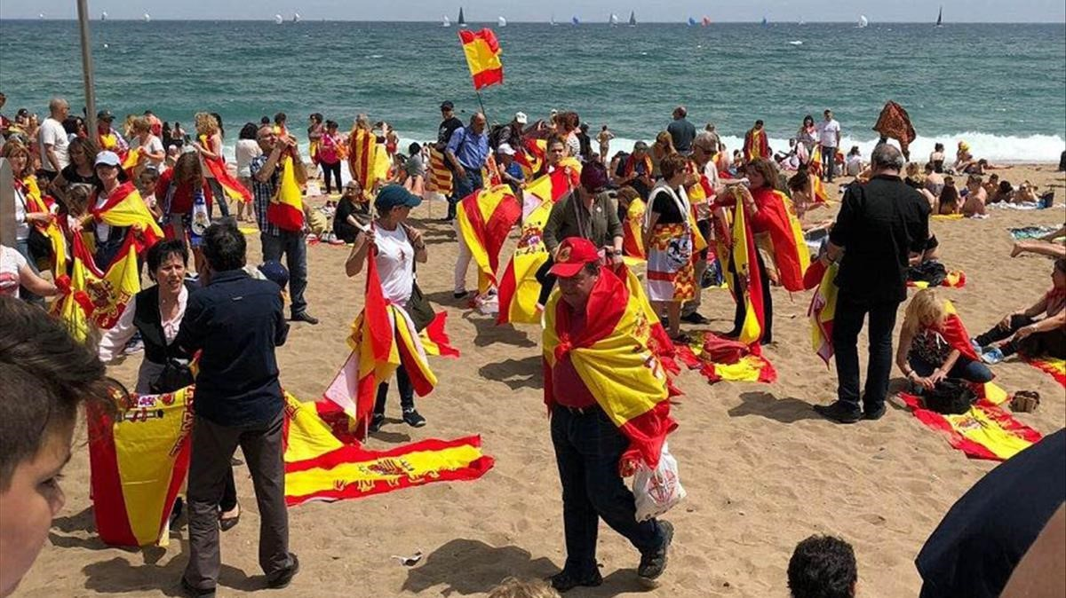 playas espana banderas