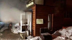 Hotel que ha sufrido una inundación con agua caliente en Rusia.