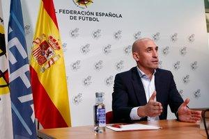 Luis Rubiales, presidente de la RFEF, en un acto.