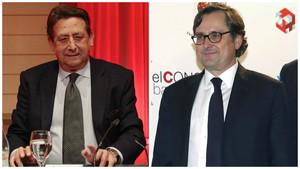 Alfonso Ussía, autor del artículo contra Messi, y Francisco Marhuenda, director de La Razón.