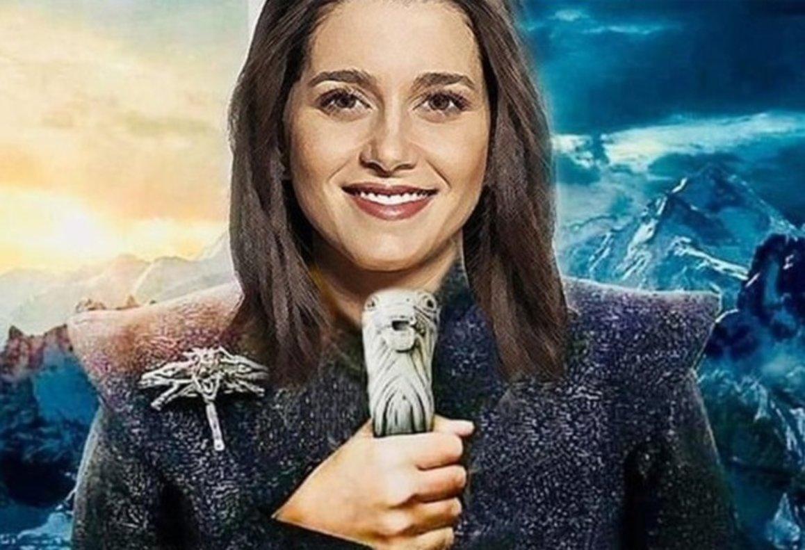 La imagen publicitaria que ha lanzado Ciudadanos en la que Arrimadas representa a Khaleesi, una de las protagonistas de 'Juego de Tronos'.