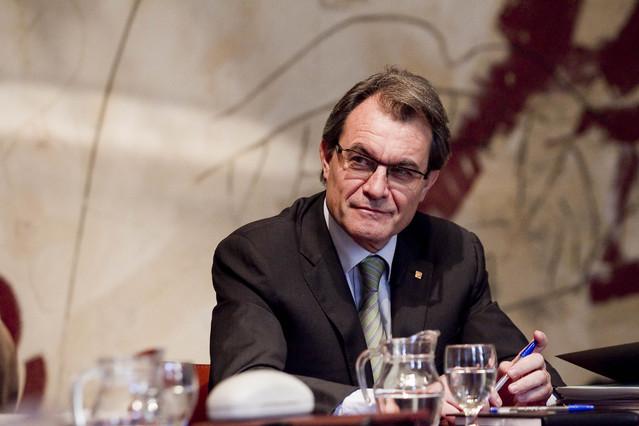Artur Mas, el martes, durante la reunión del Govern.