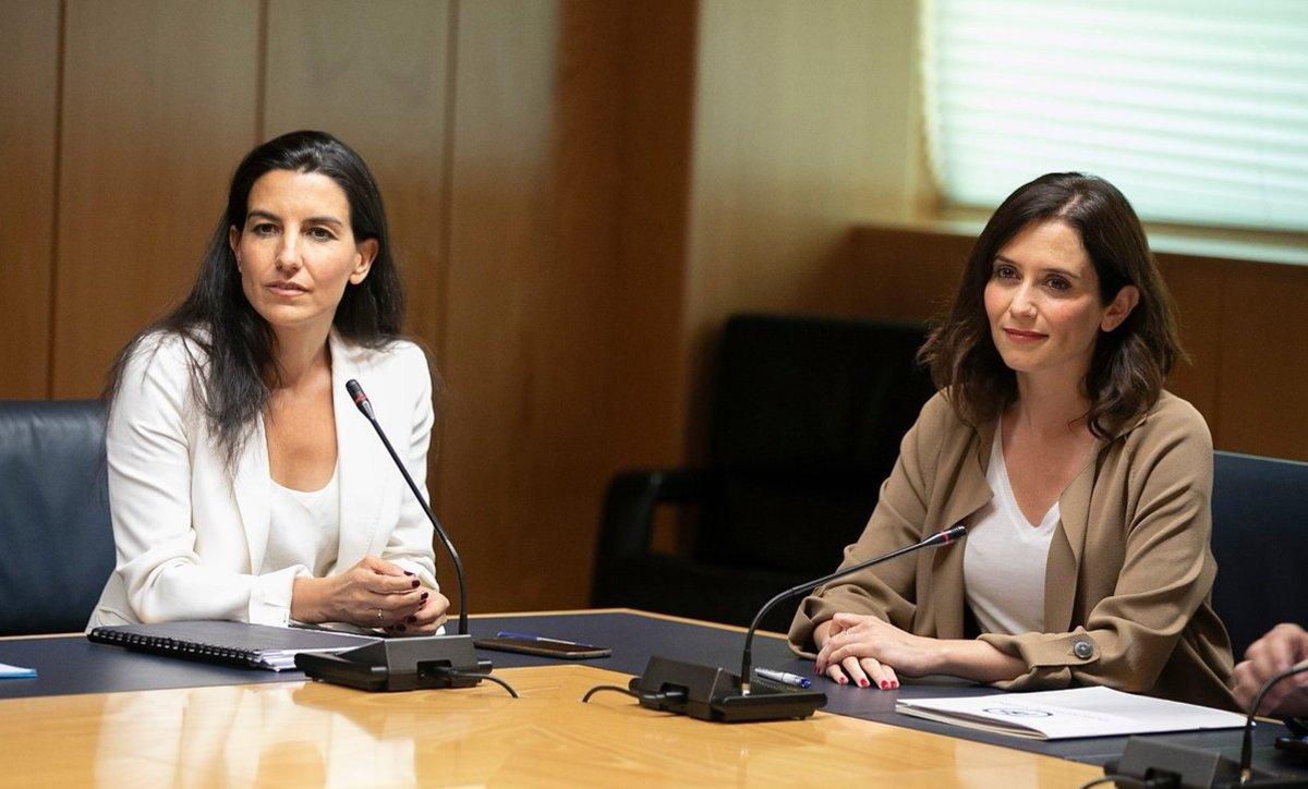 Reunión de Rocío Monasterio e Isabel Díaz Ayuso.