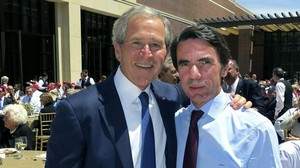 Aznar y Bush en Dallas en el 2013.