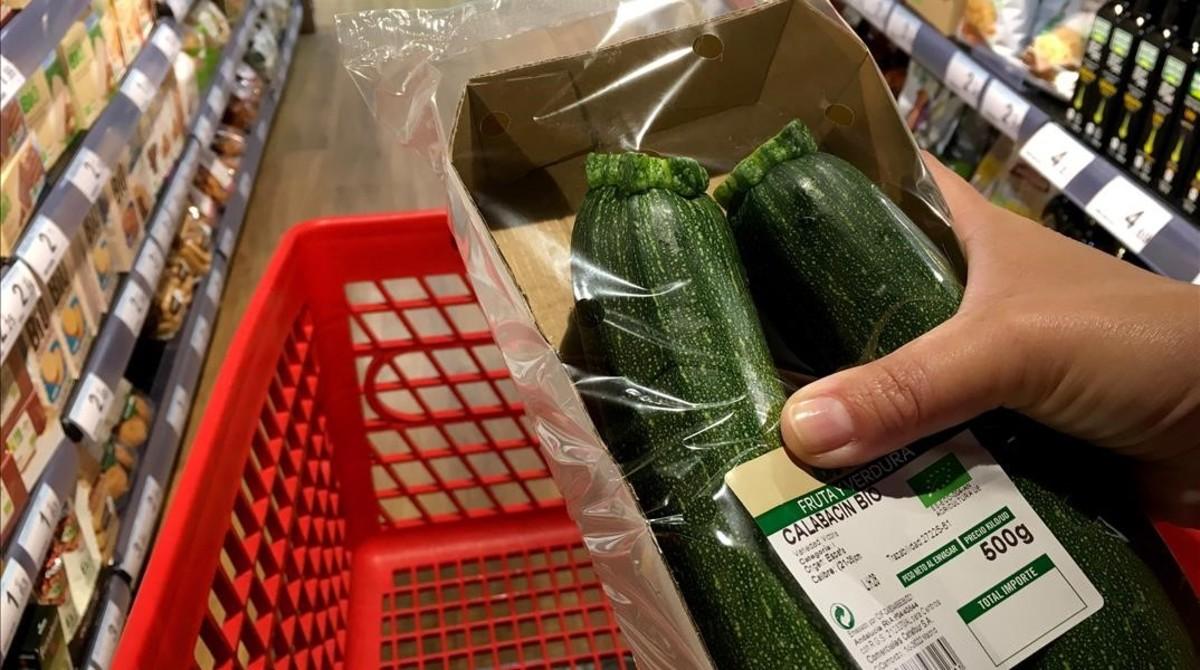 Calabacines procedentes de la agricultura ecológica.