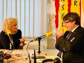 Carles Puigdemont, entrevistado por Mònica Terribas en Catalunya Ràdio.