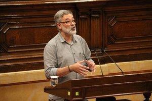 Carles Riera, en el Parlament, el pasado julio.