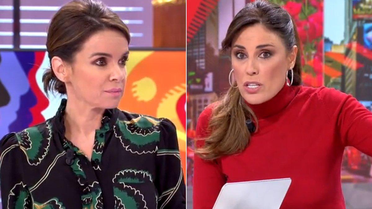 Carme Chaparro e Isabel Rábago en 'Cuatro al día'.