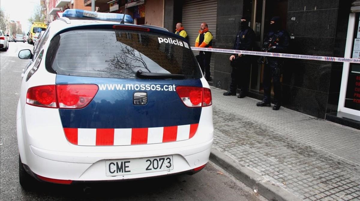 Un coche patrulla de los Mossos dEsquadra.