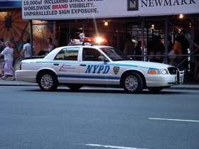 Un coche de la Policía de Nueva York.
