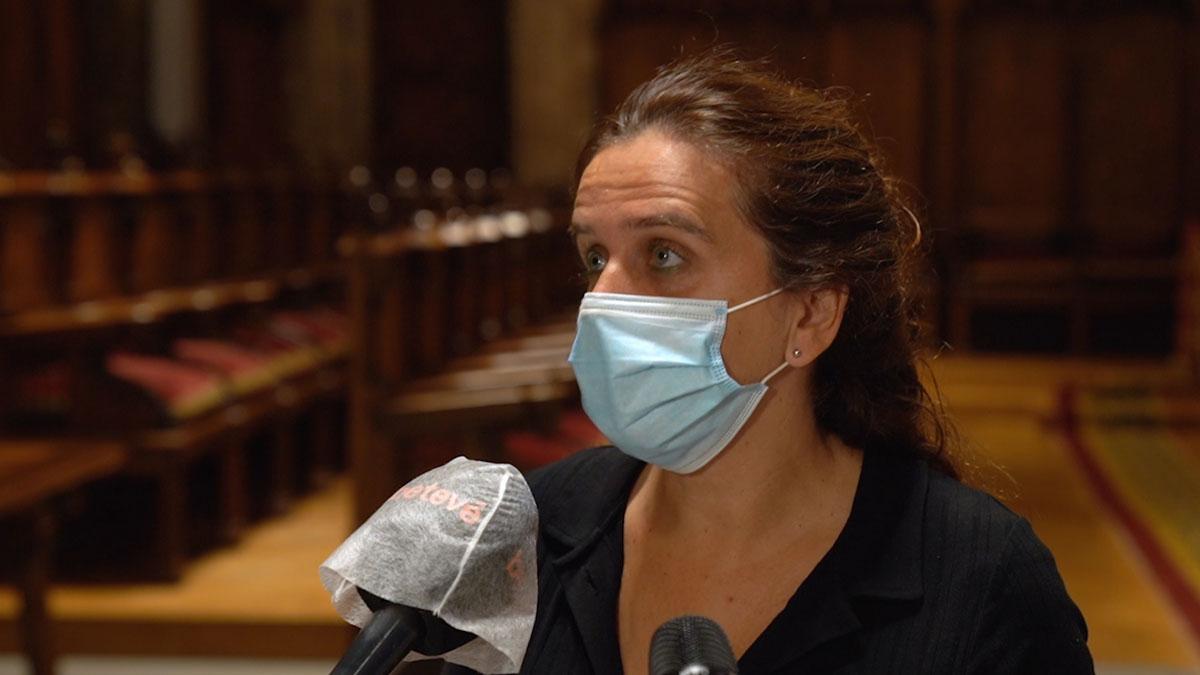 La concejala Gemma Tarafa explica el despliegue de agentes cívicos en Barcelona para combatir el coronavirus.