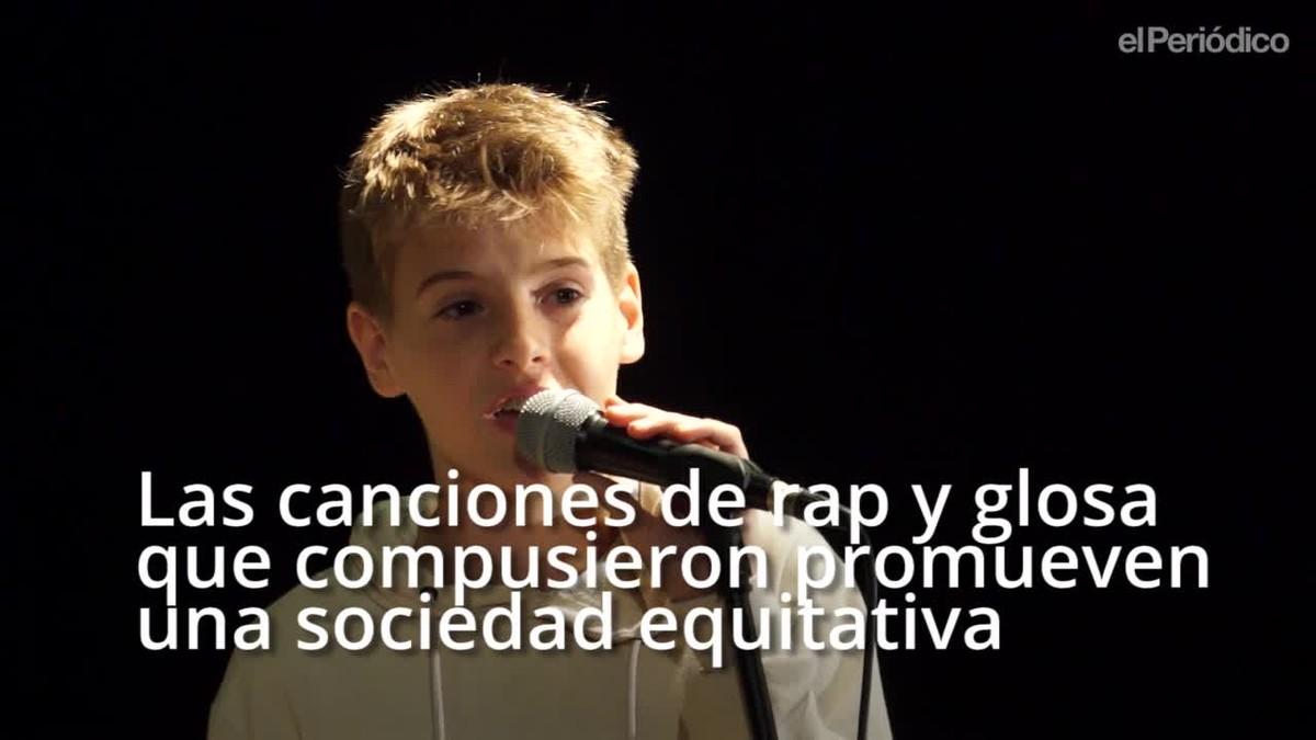 Concierto rapero en el Institut del Barri del Besós contra la discriminación de género.