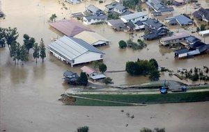 Consecuencias del paso del tifón Hagibis por Nagano, Japón.