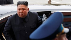 El líder norcoreano Kim Jong-un en su reciente viaje a Moscú.