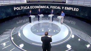 El debate electoral en TVE, con los cuatro candidatos.
