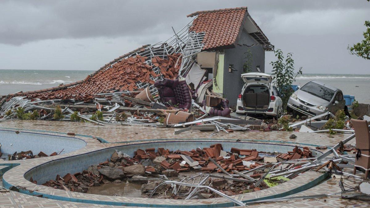 El litoral de Carita (Indonesia) fue arrasado por el tsunami.