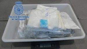 La cocaína interceptada en el Aeropuerto del Prat