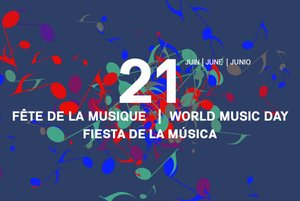 Cartel anunciador de esta fiesta musical europea.