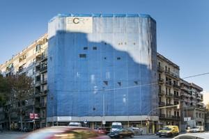 Edificio en construcción en Barcelona.