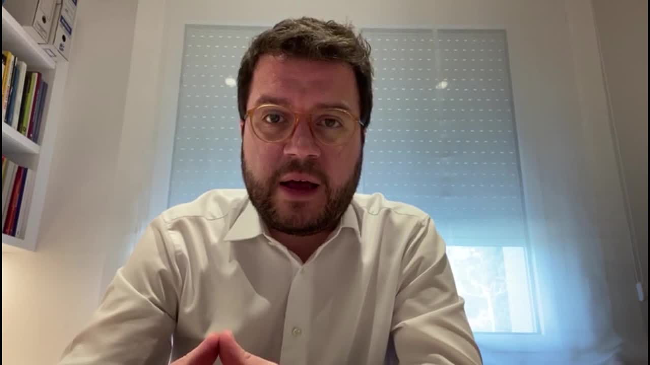 Entrevista con el Vicepresidente Pere Aragonès desde su casa.