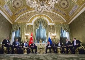 Erdogan y Putin, reunidos en Moscú.