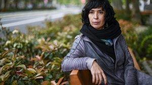 La escritora vasca Edurne Portela, en Barcelona.