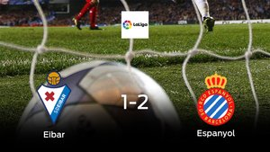 El Espanyol consigue los tres puntos después de ganar 1-2 al Eibar