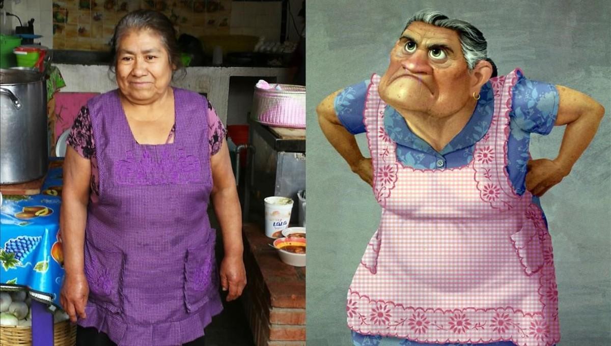 La tía Estela y Abuelita, el personaje que inspiró para la película Coco.