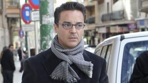 El exconcejal del Ayuntamiento de Palma Javier Rodrigo de Santos, este martes, a su llegada a los juzgados para declarar.