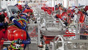 Factoría de Tesla de producción de coches eléctricos.