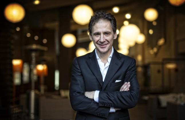 El periodista y escritor sueco David Lagercrantz, que con 'Millennium 4'ha continuada la saga creada porStieg Larsson, este viernes en Barcelona.