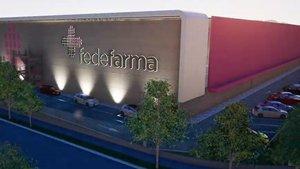 Recreación del nuevo centro logístico de Fedefarma en Palau-solità i Plegamans.