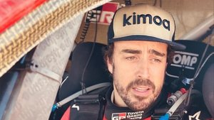 Fernando Alonso, en la primera etapa del Rally de Marruecos.