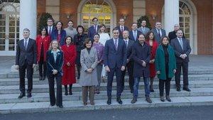 Foto de familia del Gobierno de Pedro Sánchez.