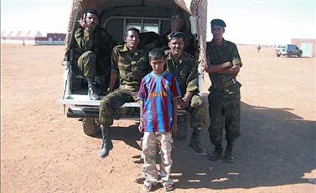 El Frente Polisario también se deja fotografiar.