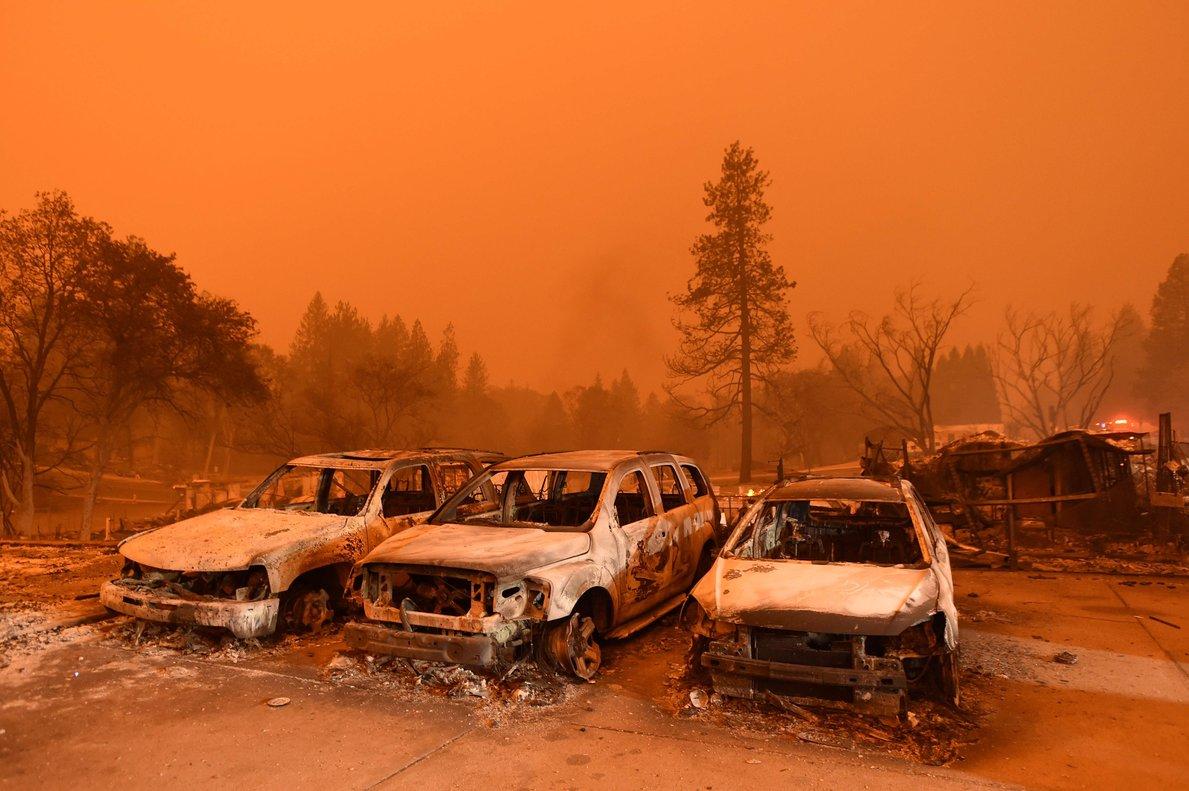 Fuego en Sacramento, California.