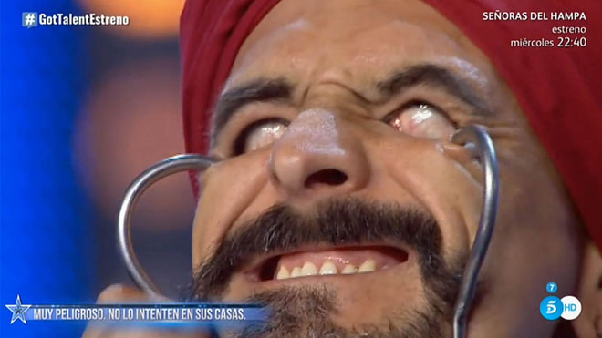 El fakir Testa en 'Got talent' (T-5).