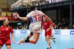 Maitane Etxebarria, durante el partido del Mundial ante Kazajistán, en Japón.