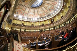 El hemiciclo del Congreso durante el debate de los Presupuestos.