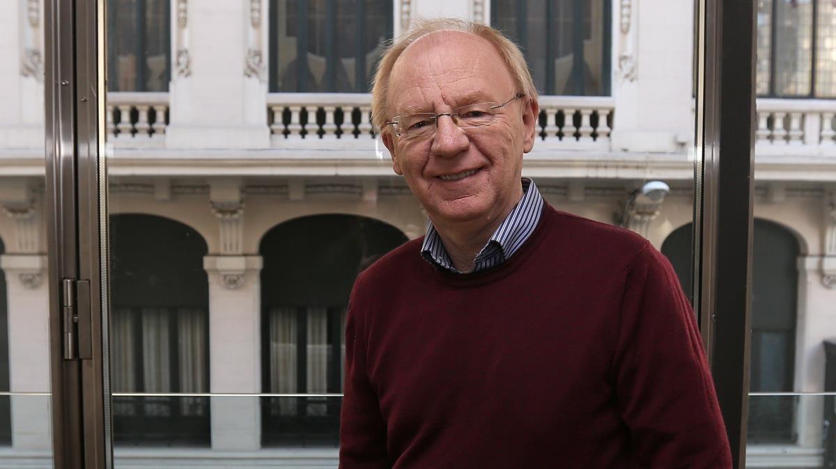 El historiador británico Laurence Rees, este lunes en Madrid, donde ha presentado El Holocausto.