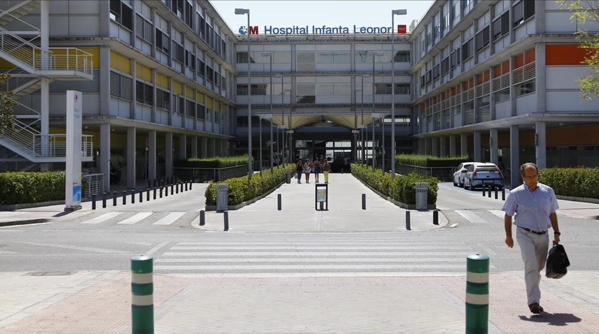 Hospital Infanta Leonor en Madrid, donde se atendió al hombre que falleció por fiebre hemorrágica Crimea-Congo.