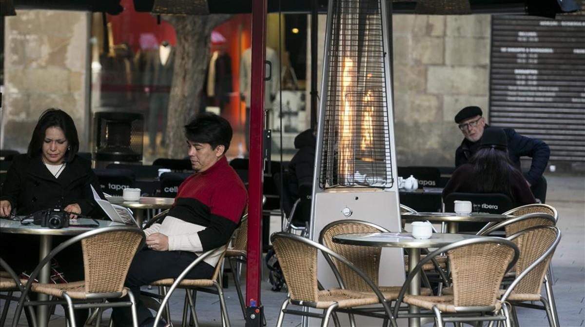 Terraza de un restaurante de Barcelona.