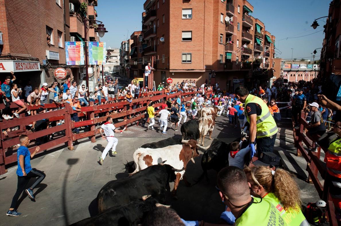 Imagen del encierro de San Sebastián de los Reyes.
