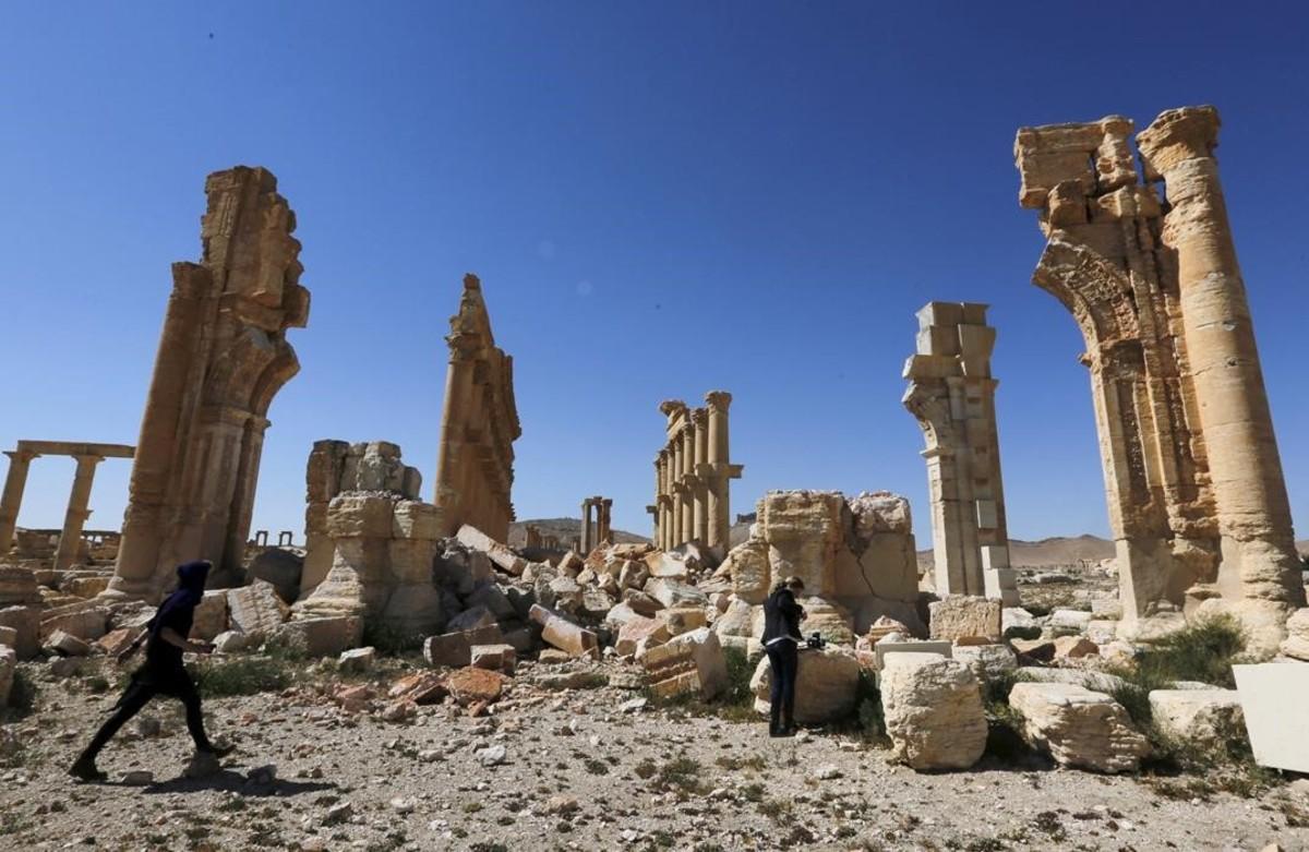 Imagen de la histórica ciudad de Palmira.