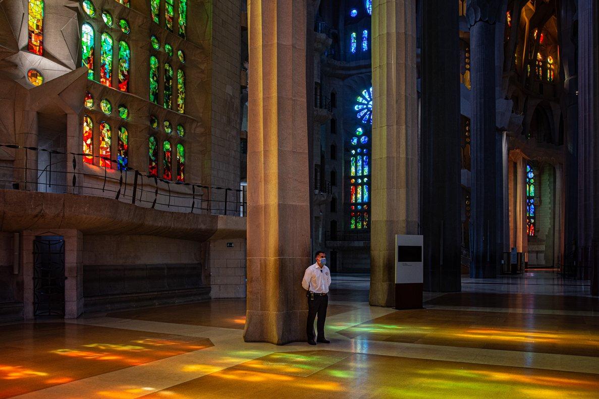 El interior del templo de la Sagrada Família, el pasado 16 de septiembre.