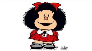 Mafalda, el icónico personaje creado por Quino en 1964.