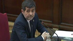 Jordi Sánchez, durante su declaración en el juicio del procés.