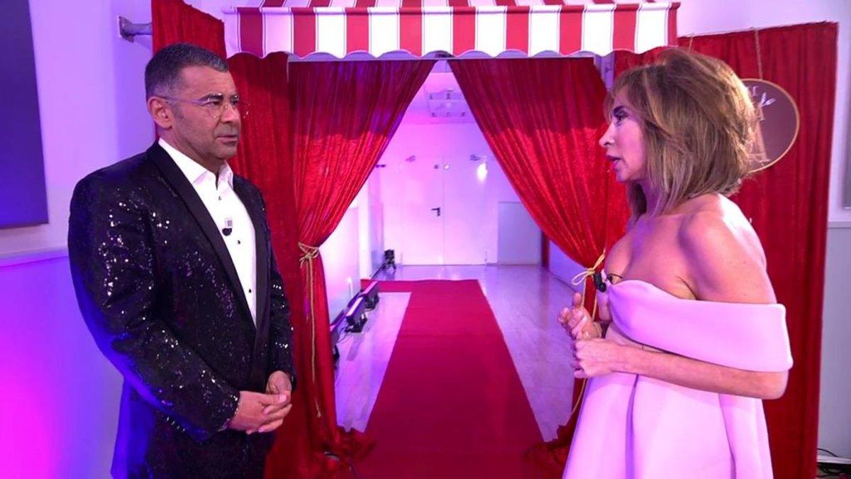Jorge Javier Vázquez y María Patiño en 'La última cena'.